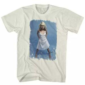 Debbie Harry White Dress Lightweight Blondie Shirt